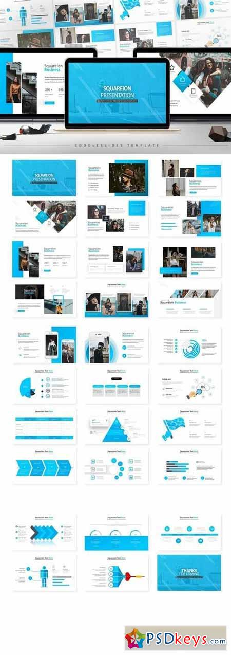 Squareion - Powerpoint, Keynote, Google Sliders Templates