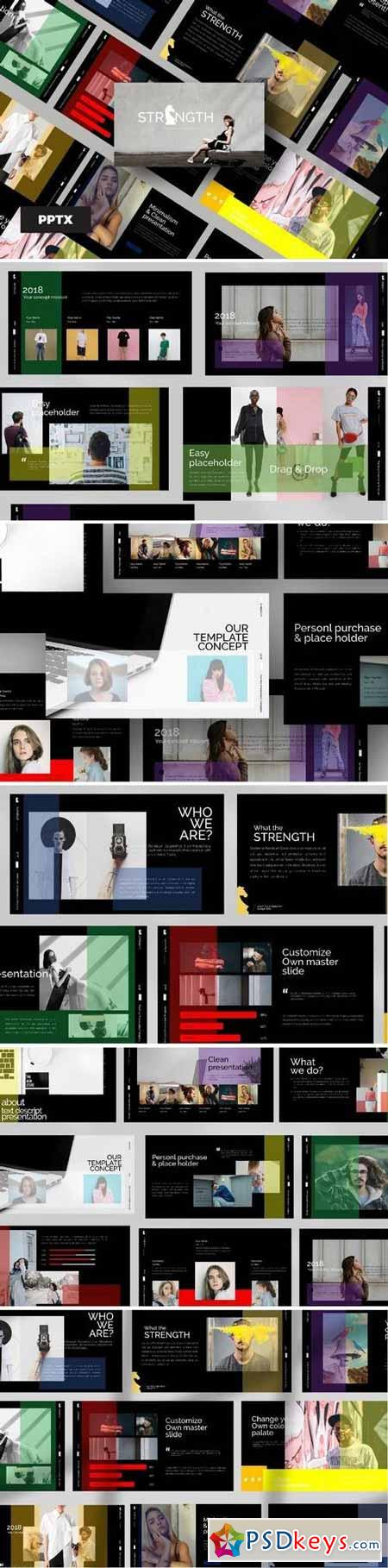 Strenght Black - Powerpoint, Keynote Templates