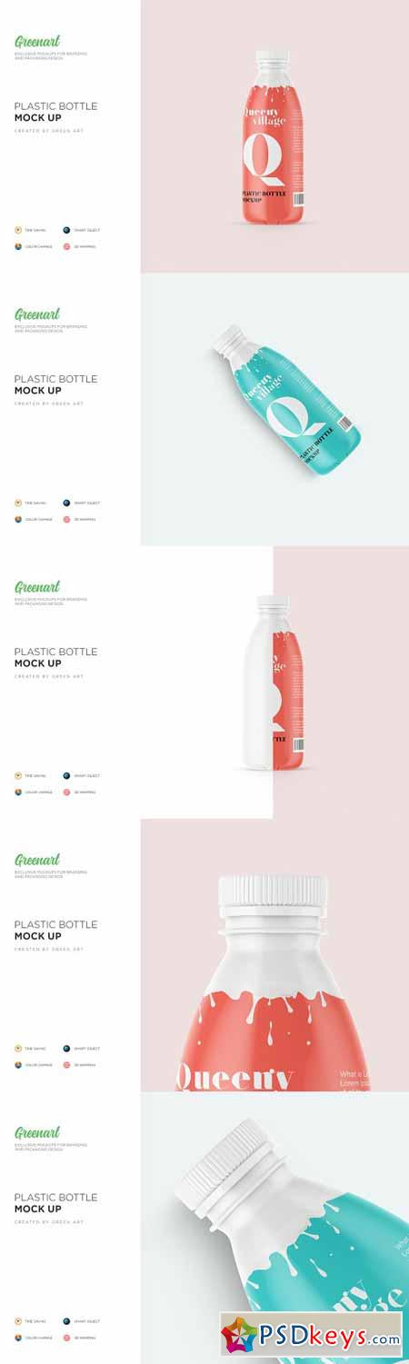 Matte Plastic Bottle Mockup 3259260