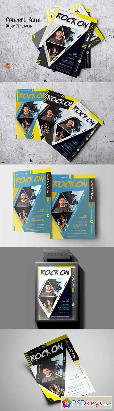 Concert Band Flyer Templates 3212663