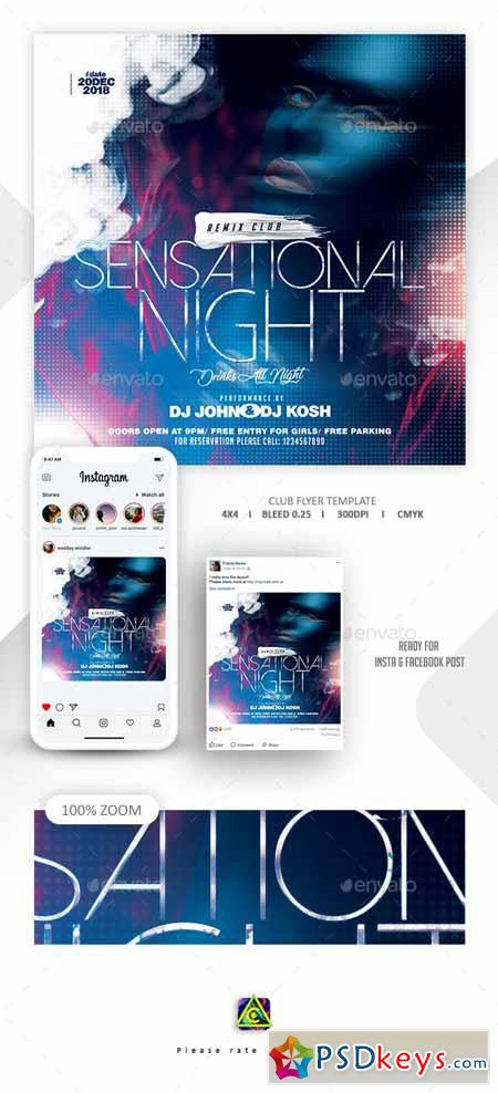 Night Club Flyer Template 22991567