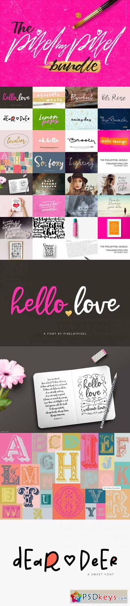 The Pixelbypixel Font Bundle 3515423