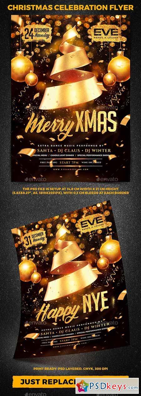 Christmas Celebration Party Flyer vol 4 22998264