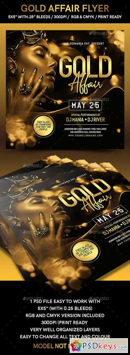 Gold Affair Flyer 23048419