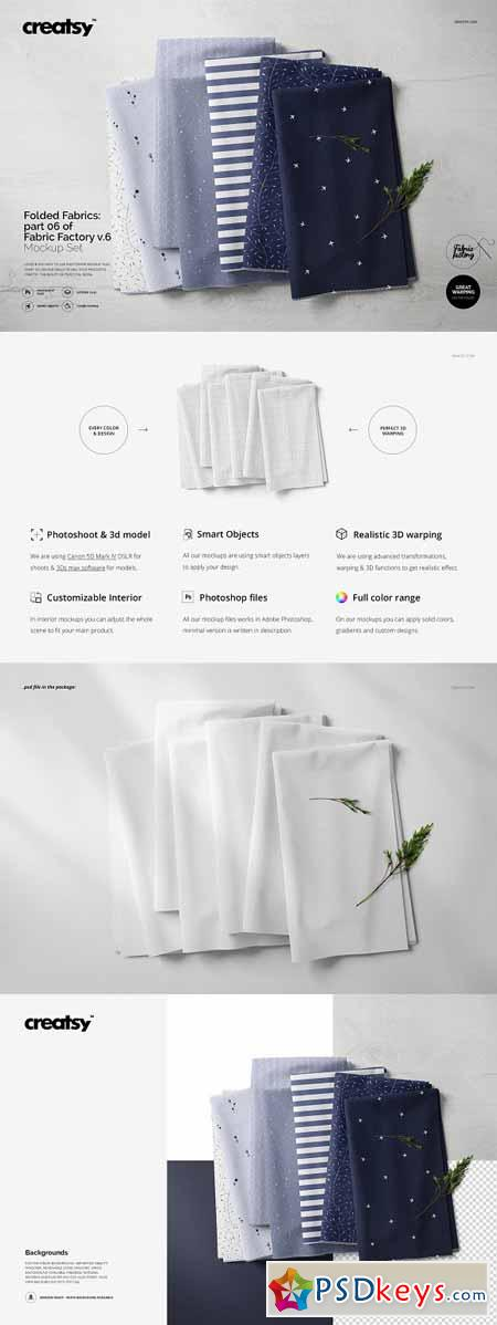 Fabric Stack Mockup 06 FF v 6 3274386