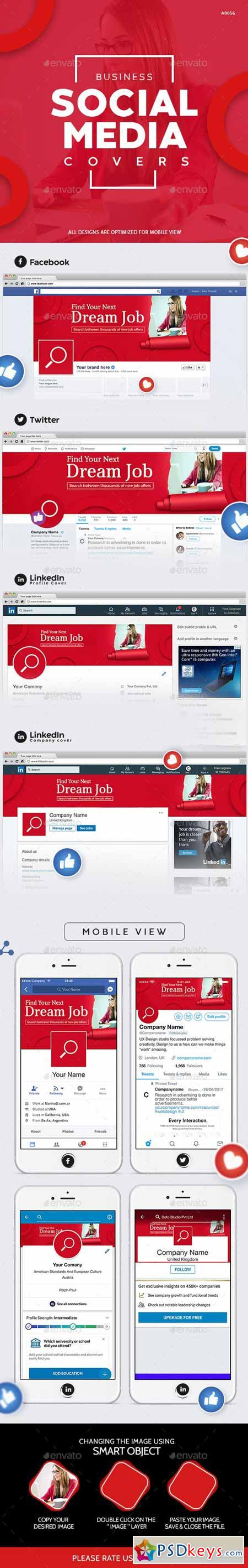 Business Social Media Cover Set 23037025