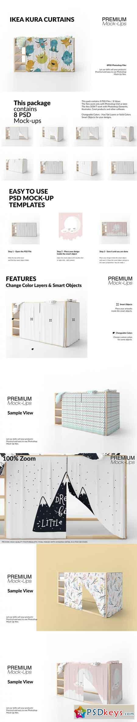 Ikea Kura Playhouse Curtains Set 3517968