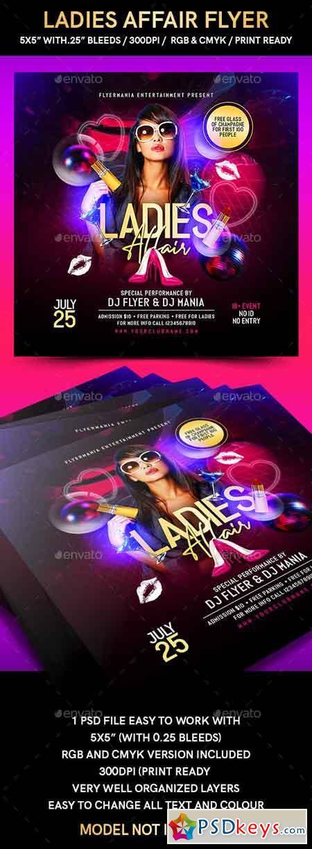 Ladies Affair Flyer 23048775