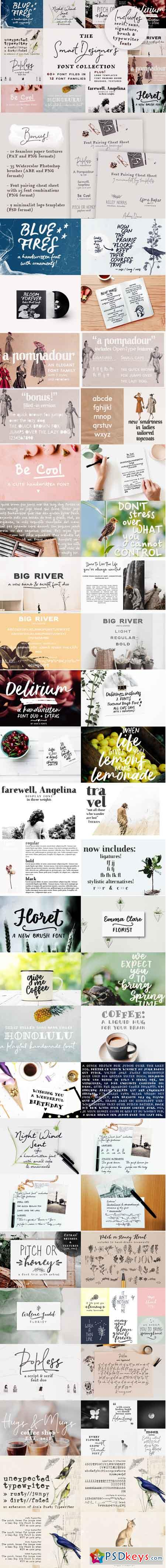 Best of Ana's Fonts Bundle + logo templates 3515764