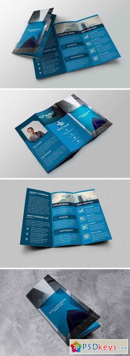 Corporate - Trifold Brochure Blue