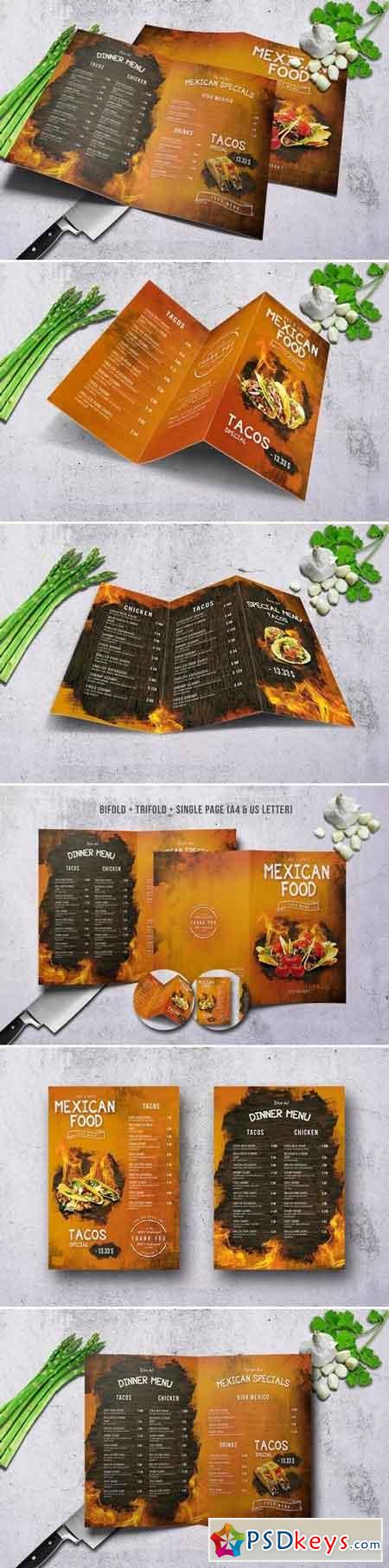 Mexican Menu Bundle A4 & US Letter