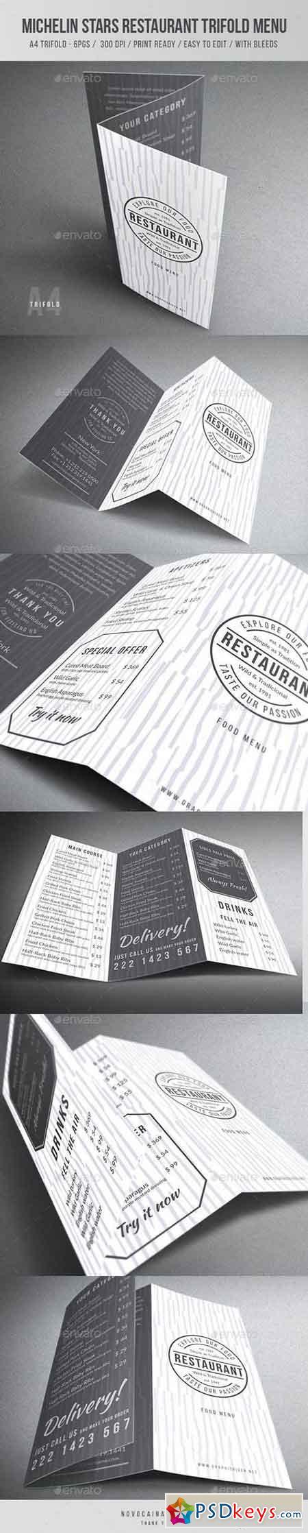 Michelin Stars Restaurant Trfiold Menu 19308672