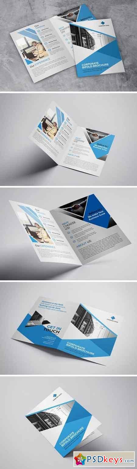 Corporate - Bifold Brochure White Blue