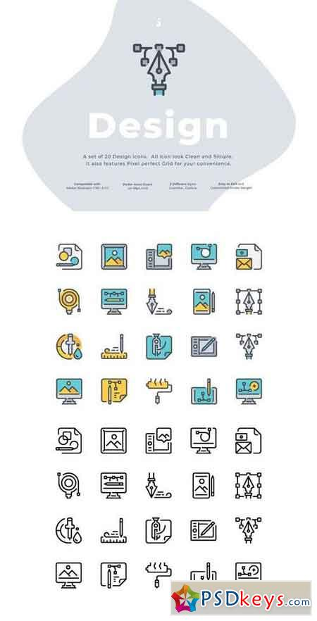 20 Design icon set