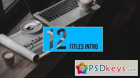 MotionArray 12 Intro Titles After Effects Templates 155897