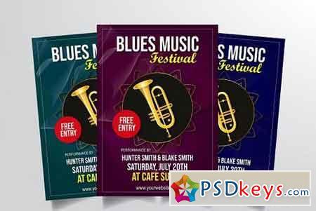 Blues Music Festival Flyer Vol. 1 3322905