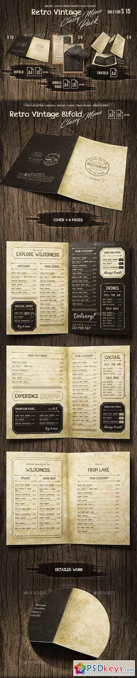 Retro Vintage Classy Menu Bundle 20681361