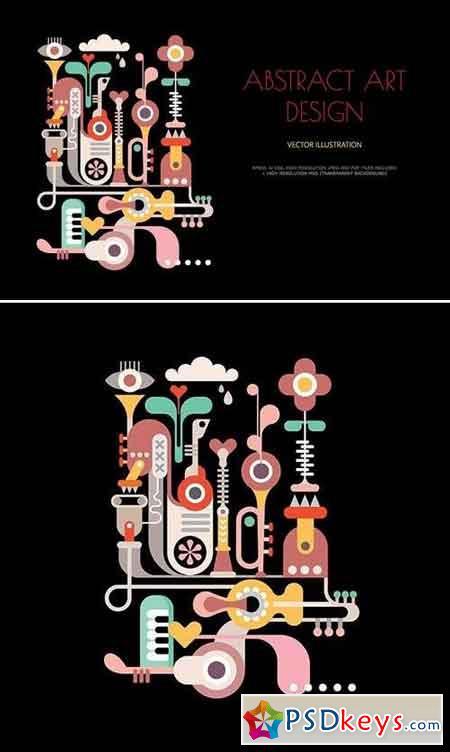 Abstract Art Design vector artwork