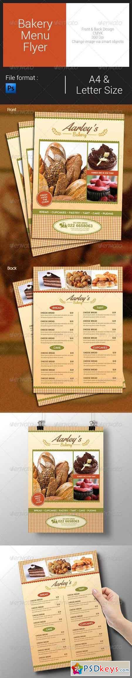Bakery Menu Flyer 8189094