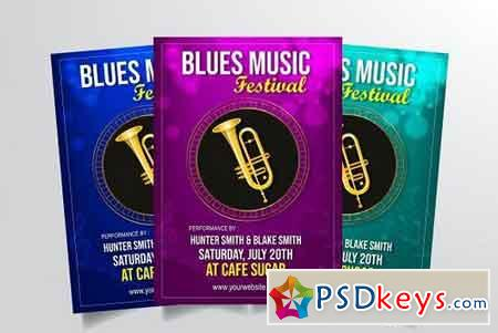 Blues Music Festival Flyer Vol. 2 3322911