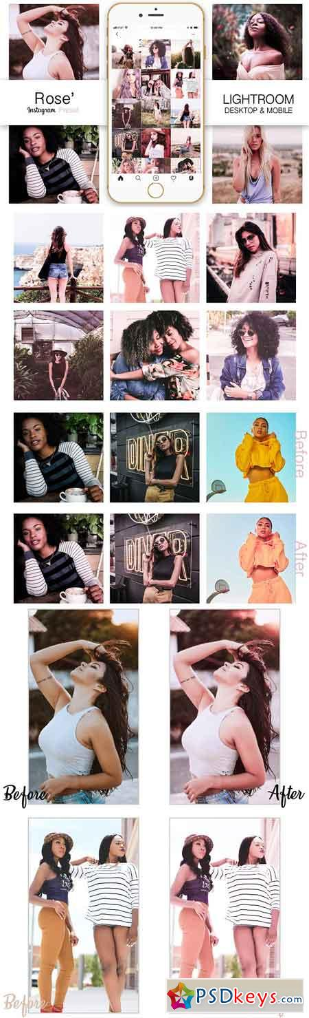 Rose Gold Instagram Blogger Preset 3285783