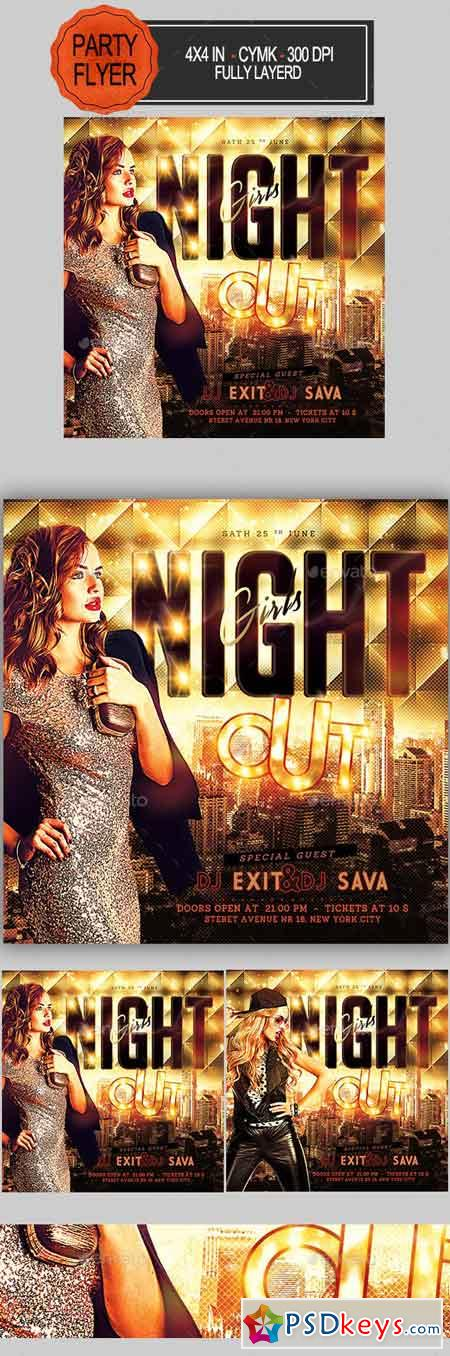 Girls Night Out Party Flyer 23054448