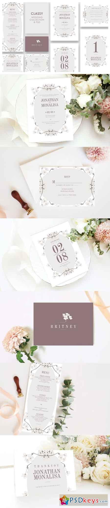 Classy Wedding Invitation Set 3305983