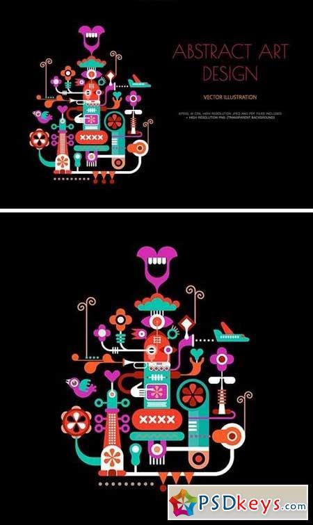 Abstract Art Design vector illustration 2