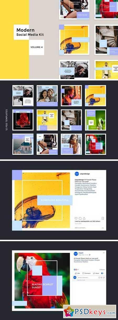 Modern Social Media Kit (Vol. 4)