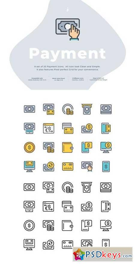 20 Payment icon set