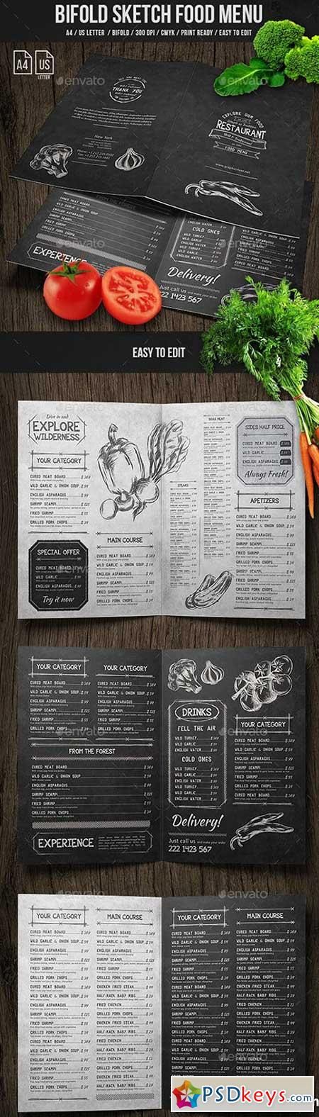 Sketch Food Menu Bundle 21258249