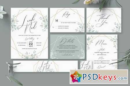 Geometric Wedding Invitation 4