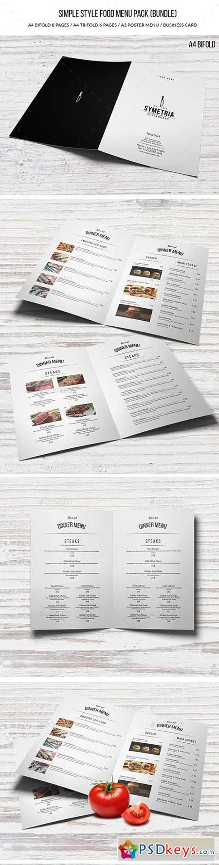 Simple Style Food Menu Pack (Bundle) 16529034