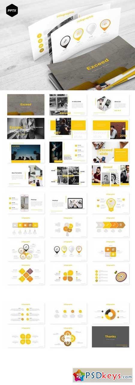 Exceed - Powerpoint, Keynote, Google Sliders Templates