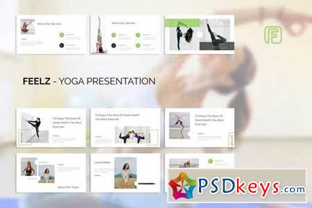 Feelz Yoga - Powerpoint, Keynote, Google Sliders Templates
