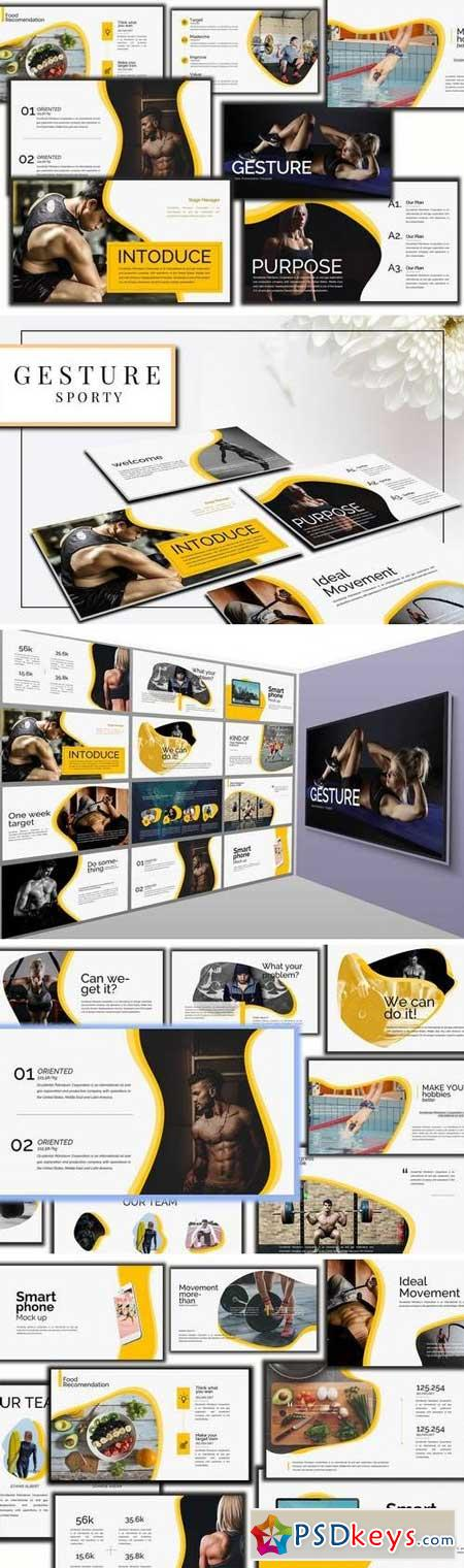 Gesture Athletics Powerpoint and Keynote Template