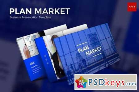 Plan Market Business - Powerpoint, Keynote, Google Sliders Templates