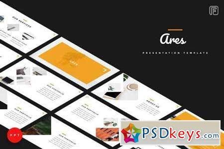 Ares - Creative - Powerpoint, Keynote, Google Sliders Templates