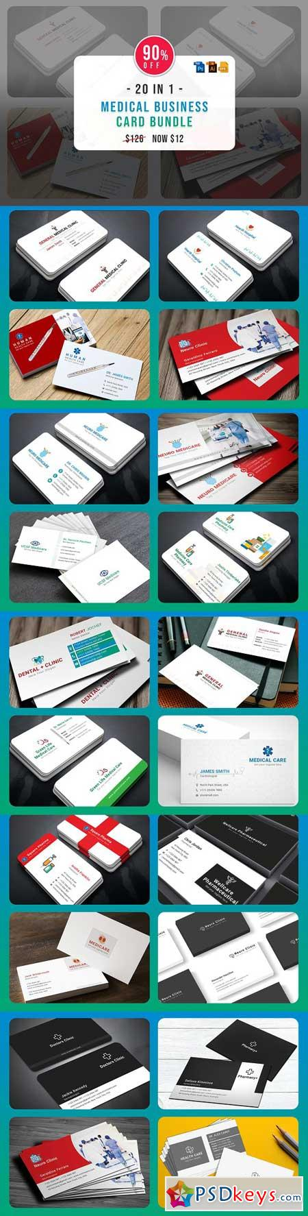 Medical Business Cards Bundle 3251021