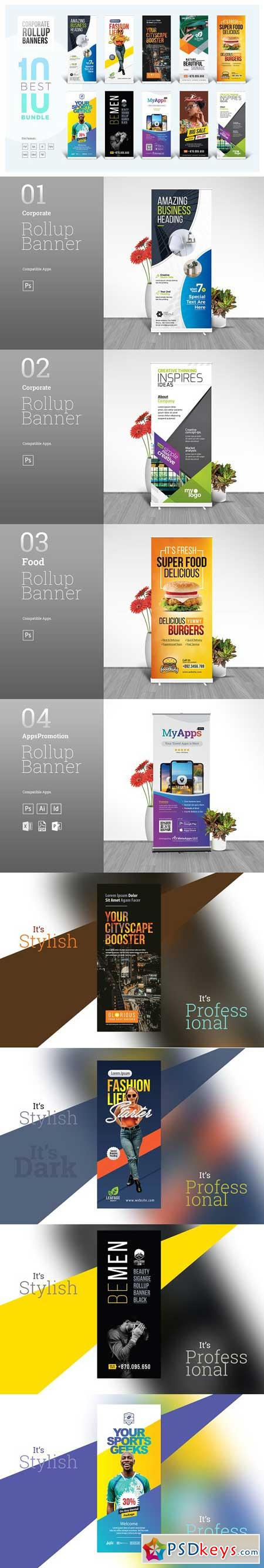 Best Corporate Rollup Banner Bundle 3228044