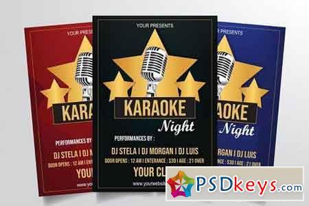 Karaoke Night Flyer Template Vol. 1 3318447