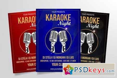 Karaoke Night Flyer Template Vol. 2 3318450
