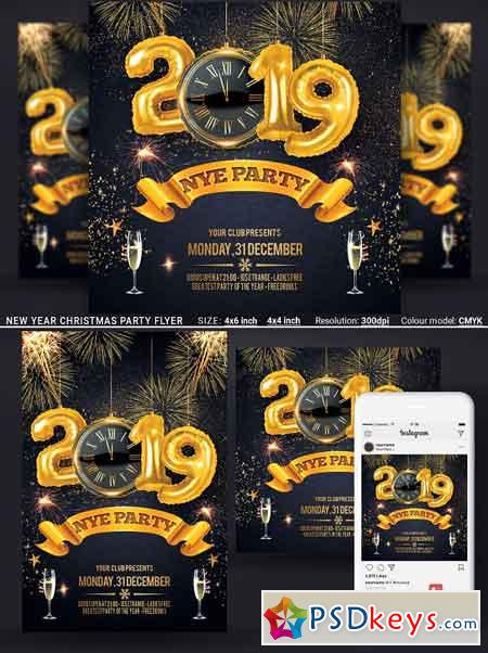 New Year Christmas Party Flyer 3310417