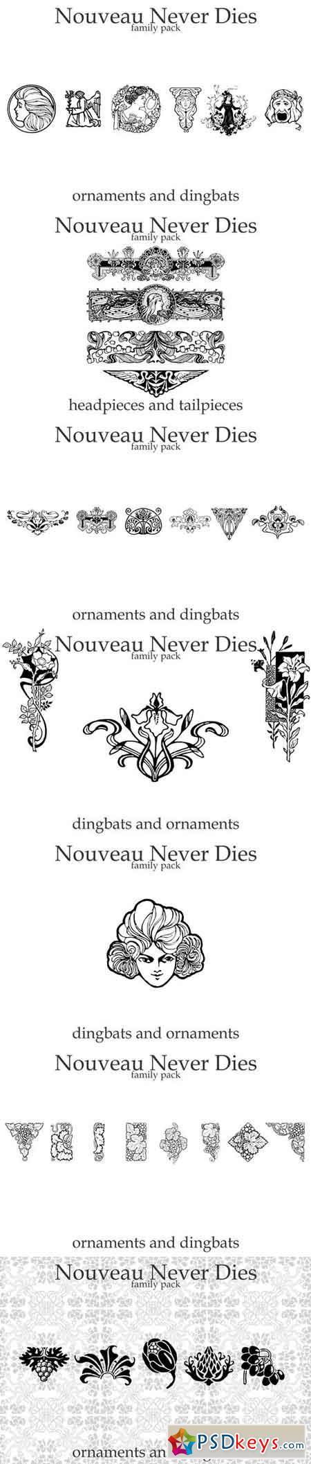 Nouveau Never Dies Family 34563
