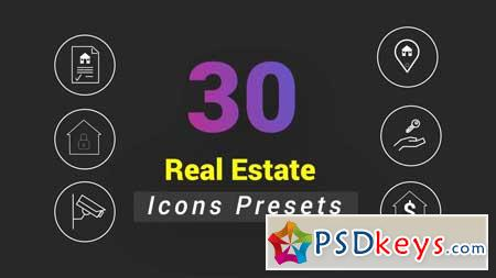 30 Animated Real Estate Icons 156679 After Effects Projects