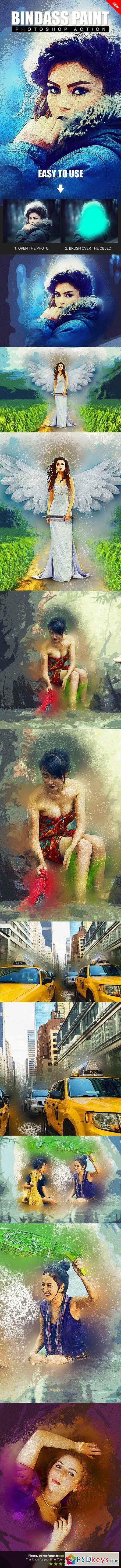 Bindass Paint Photoshop Action 22876838