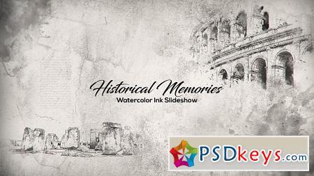 Historical Memories Watercolor Ink Slideshow 18404158