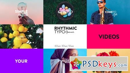 Rhythmic Typo Opener 20483673 After Effects Template