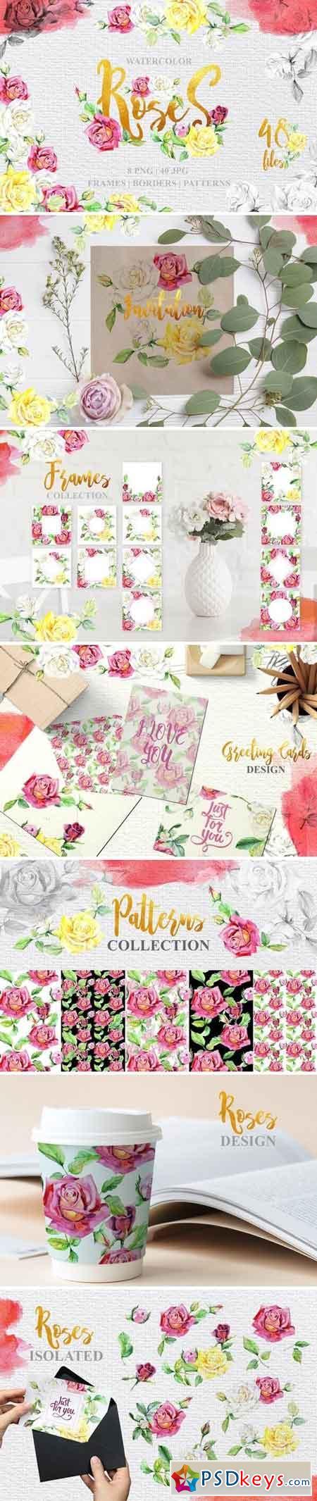 Rose technique Watercolor png 3319432