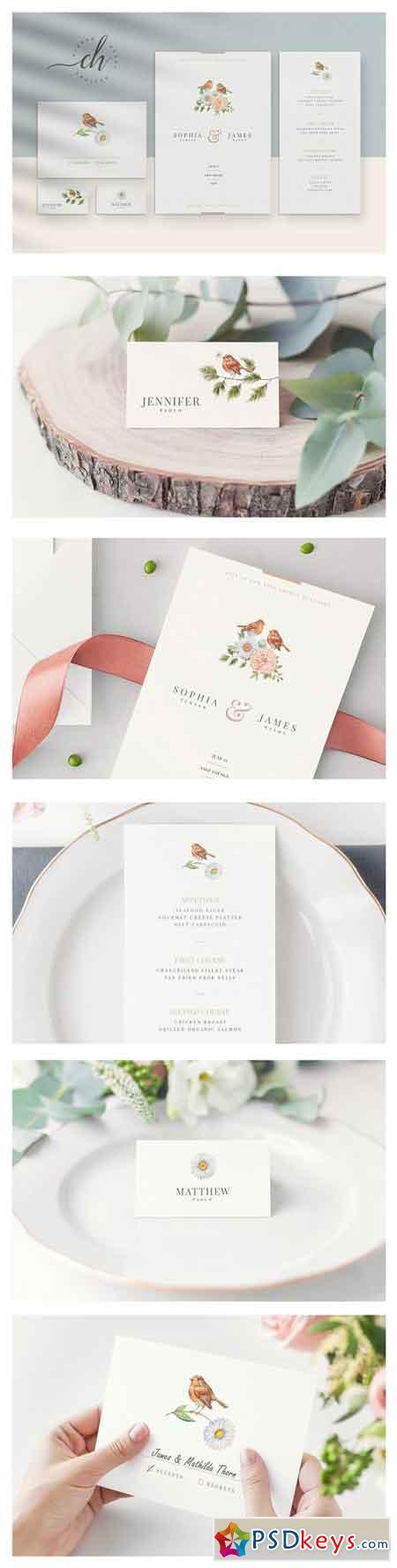 Beryl Wedding Invitation Suite 3275166